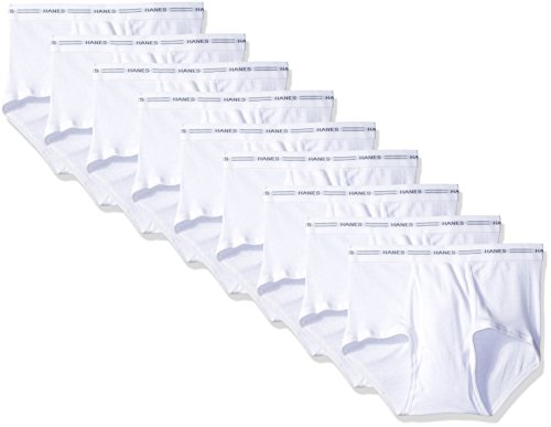 Hanes Red Label Men's 9-Pack Brief (White, Large) ()