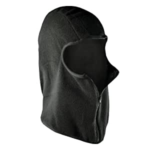 Exercise Gear, Fitness, ZANheadgear Micro Fleece Balaclava with Zipper (Black) Shape UP, Sport, Training