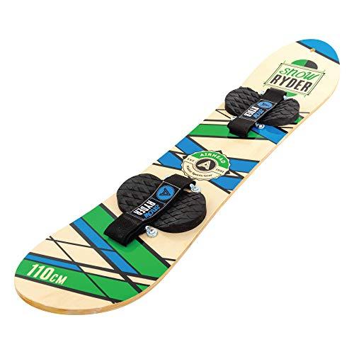 Airhead Snow Ryder Hardwood Snowboard w/Velcro Bindings