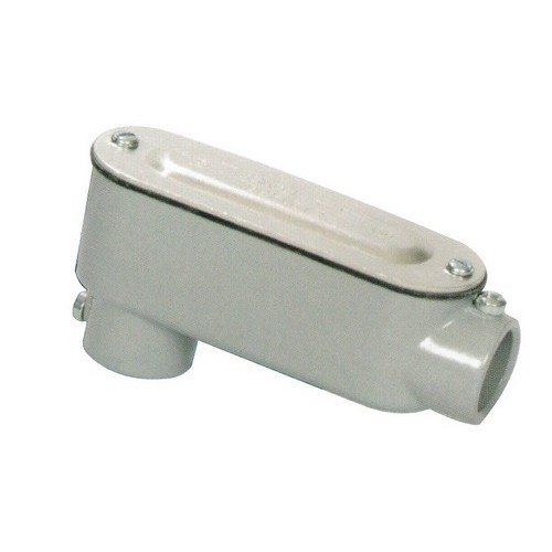 Morris 14152 EMT Set Screw Conduit Body, Aluminum, Type LB, Cover and Gasket, 1