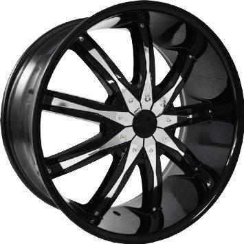 Amazon Com 22 Inch Dcenti Dw29 Black Chrome Inserts Wheels