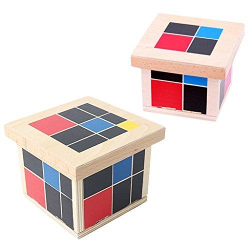 MonkeyJack Wooden Montessori Mathematics Material - Trinomial and Binomial Cube by MonkeyJack