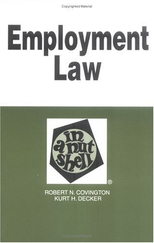 Employment Law in a Nutshell (Nutshell Series)
