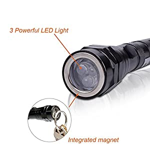 Portable 3 x LED Telescopic Flexible Extensible Led Flashlights Torch Magnetic Head Pick Up Tool Flash Light Lamp 4 x LR44 Batteries (Included)