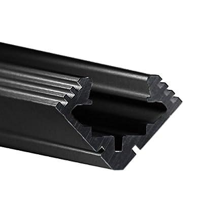 3.28 ft. Black Anodized Aluminum 45-ALU Channel - For LED Tape Light - Klus B4023K7