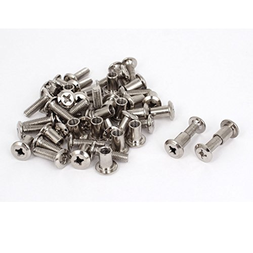 6mmx20mm Phillips Countersunk Head Cap Screw Bolts Barrel Nu