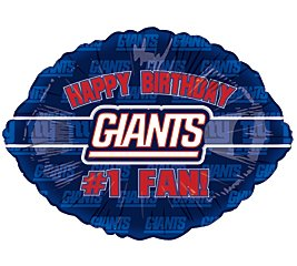 New York Giants 1 Fan Birthday Party Balloons Decorations Import