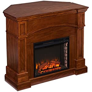251 First Aster Corner Convertible Electric Fireplace - Oak Saddle