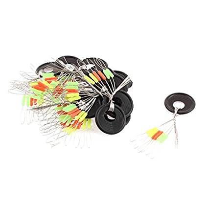 eDealMax goma Pescador cilíndrico Pesca del flotador Bobber tapón de frijol 15 Pcs