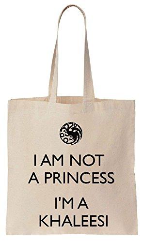 Bag Compras Khaleesi Tote Bolsos Not Algodón de Reutilizables Princess I'm de I'm A zxYIgBz