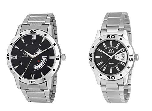 Watch Me Stylish Wrist Watch GIF Set Combo for Couple Men and Women DDWM-042-DDWM-009-BK Watch for Mens Under 500 ; Watches for Mens Stylish ; Watch for Men Stylish Latest