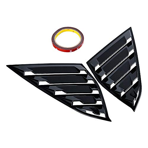 (Compatible with 2018 Honda Accord Sedan 4DR ABS Rear Side Window Louvers Scoop Cover Vent Carbon Fiber Pattern Style (2pcs Left&Right))
