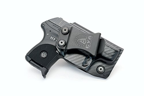 CYA Supply Co. IWB Holster Fits: Ruger LCP 380 Auto - Veteran Owned Company - Made in USA - Inside Waistband Concealed Carry Holster (Ruger Lcp 380 Inside The Waistband Holster)