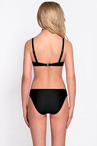 Vivisence 3209 Braguita De Bikini Lisa Clásica De Cintura Regular Para Mujeres - Hecha En La UE negro