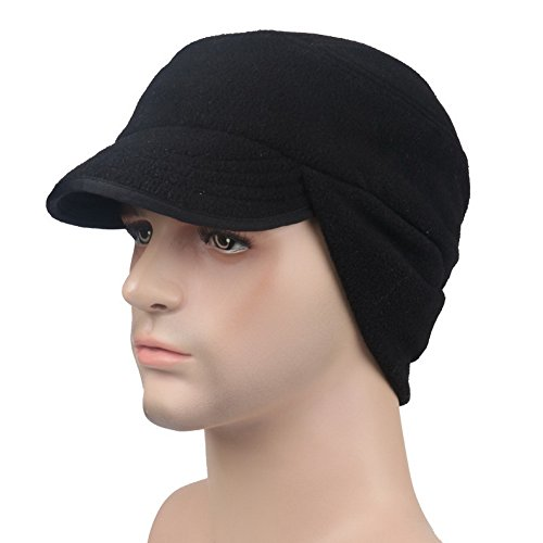 Crazy Cart Winter Warm Skull Cap Outdoor Windproof Fleece Earflap Hat with ()
