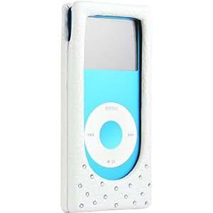 Case-Mate Luxe funda de cuero para iPod nano 2G, blanca/azul