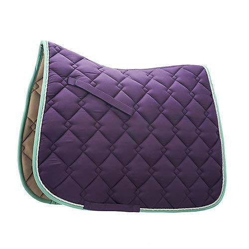 Roma Ecole Double Diamond Dressage Pad Purple/Silv