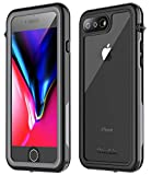 iPhone 7 Plus Waterproof Case,iPhone 8 Plus Waterproof Case. Oterkin Full Body 360° Protective Shockproof Dirtproof Sandproof IP68 Phone Case for iPhone 7 Plus/iPhone 8 Plus(5.5') (Black/Grey/Clear)