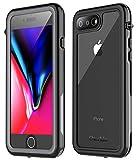 iPhone 7 Plus Waterproof Case,iPhone 8 Plus Waterproof Case. Oterkin Full Body 360° Protective Shockproof Dirtproof Sandproof IP68 Phone Case for iPhone 7 Plus/iPhone 8 Plus(5.5′) (Black/Grey/Clear)
