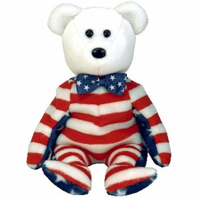 Ty Beanie Babies - Liberty the White Teddy Bear (USA Exclusive) (Baby Usa Beanie)