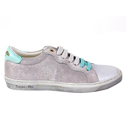 PANTOFOLA D ORO Kinder Mädchen Leder Sneaker Silver 56 Größe 31