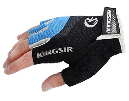 Cyclisme V¨¦lo Racing Route Silicone Montagne Pad Bleu Bicycle Moiti¨¦ Gloves Gants Finger Gel De rrT4wq1