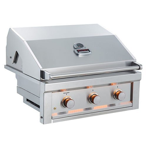 SUNSTONE RUBY3B-NG 3 Burner Pro-Sear Natural Gas, (Pro Series Stainless Steel Chimney)