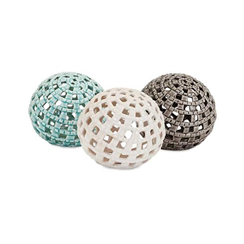 Imax Benzara Outer Bas Spheres - Assortment Of 3 1807274