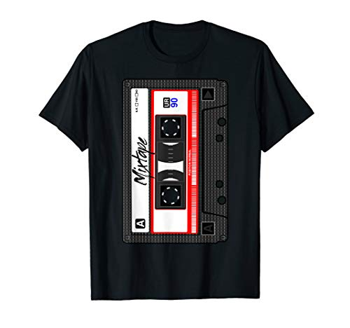 Cassette Tshirt Tape Music Mix Audio 90s Party