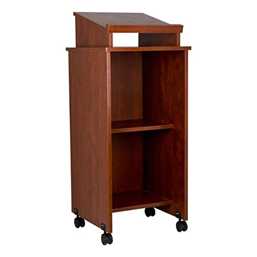 - Norwood Commercial Furniture Mobile Lectern, Cherry, NOR-TIR1034-SO