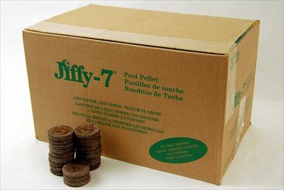 1000 Count - Jiffy 7 Peat Soil Pellets Seed Starting Plugs - Full Case - Indoor Garden or Planter Pot Seed Starter System
