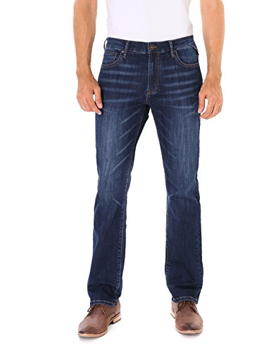Indigo alpha Men's Straight Fit Denim Jeans
