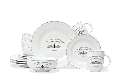 222 Fifth 1047BK801A1A05 Table Graces 16 Piece Dinnerware