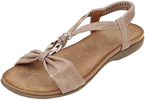 Thenxin Women`s Gladiator Sandals Bohemia Beach Flat Sandals Comfort Elastic Band Slip On Summer Shoes / Thenxin Women`s Gladiator Sandals Bohemia Beach Flat Sandals Comfort Elastic Band Slip On Summer Shoes