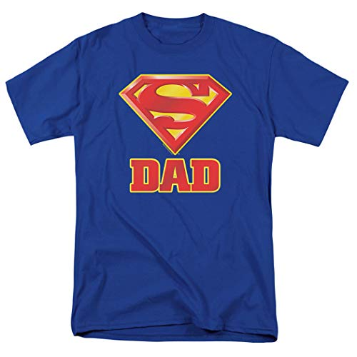 Popfunk Superman Superdad Logo for Fathers T Shirt & Exclusive Stickers, XX-Large