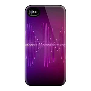 High-quality Durability Case For Iphone 4/4s(audio Waves)