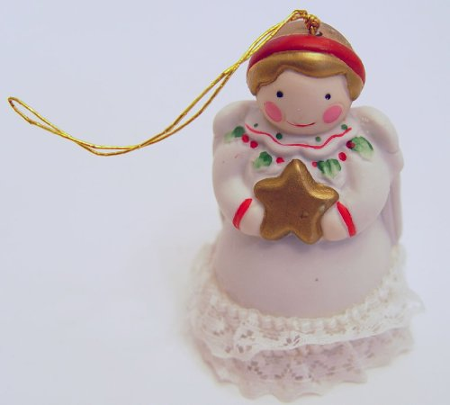 Jolly Jingles 1986 Porcelain Angel Collector Bell Christmas Ornament