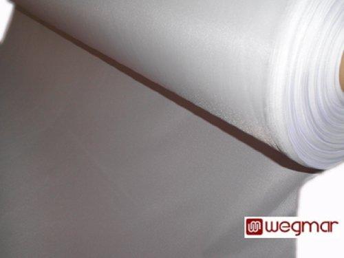 Beamerleinwand Präsentationsgewebe Projektionsleinwand Stoff Weiß Schwerentflammbar (B1) als Meterware (255 Zentimeter, Weiß)