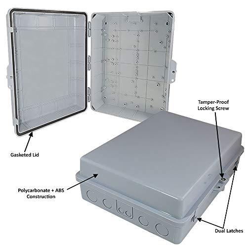 Altelix NEMA Enclosure 14'' x 9'' x 4.5'' Inside Space Polycarbonate + ABS Tamper Resistant Weatherproof Rainproof by Altelix (Image #1)