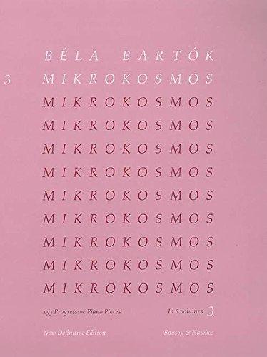 Mikrokosmos: 153 Klavierstücke, vom allerersten Anfang an. Vol. 3. Klavier. (Englisch) Taschenbuch – 1. Oktober 1945 Béla Bartók Boosey & Hawkes London 085162636X