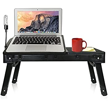 Amazon Com Laptop Stand With Cooling Fan Amp Led Light