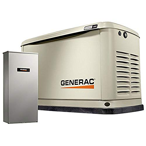 Generac 70331 Home Standby Generator Guardian Series 11/10kW Air-Cooled with Wi-Fi, 200SE (not CUL), -