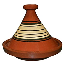 Moroccan Cooking Tagine Medium 49 Approximately 10 inches in diameter Ready to be used for your cooking in the oven or on top of your electric or glass stove in a low heat This is an authentic, handcrafted Moroccan cooking tagine
