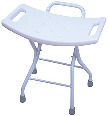 Folding Shower Seat Stool - Portable Bath Bench Chair with Hand Grab for Seniors, Disabled, or Home Care Comfort by BrightCare