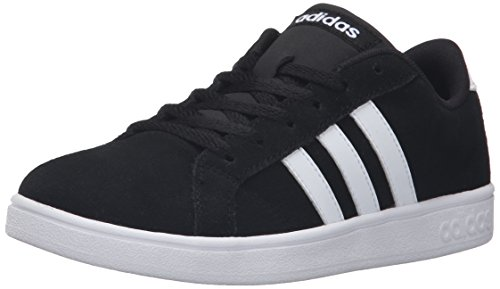 adidas NEO Boys' Baseline K Sneaker, Black/White/Black, 2 M US Little Kid