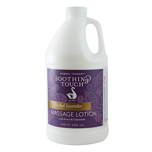 Lavender Massage Lotion - Soothing Touch W67341H Herbal Lavender Lotion, 1/2 Gallon