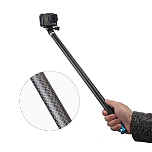 "TELESIN 106"" Ultra Long Selfie Stick Lightweight High Tenacity Carbon Fibre Extendable Handheld Monopod for Gopro 6 5 4 3+ 3 2 1 Session Digital Camera & Most of the Digital Camera"