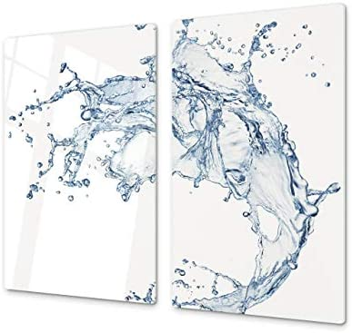 Cubre vitro de cristal templado – Protector de encimera de vidrio templado – Resistente a golpes y arañazos – UNA PIEZA (60 x 52 cm) o DOS PIEZAS (30 ...