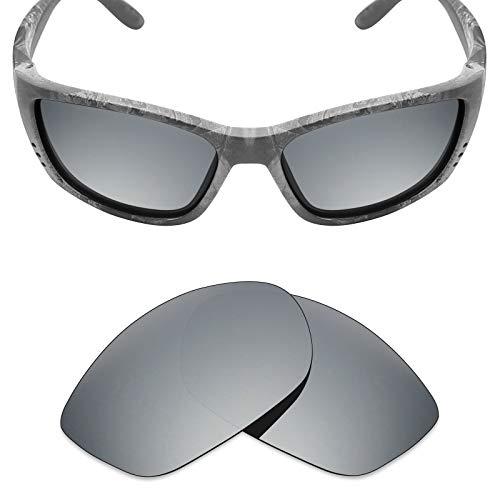 Mryok Polarized Replacement Lenses for Costa Del Mar Fisch - Silver Titanium (Fisch Replacement Lenses)
