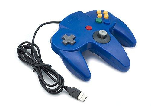 Childhood Gamelink Retro Classic USB Controller Gamepad Joysticks for N64 Style MAC PC Blue